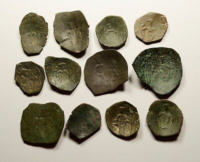 Lot Of 12 Ancient Byzantine Cup Coins - 013