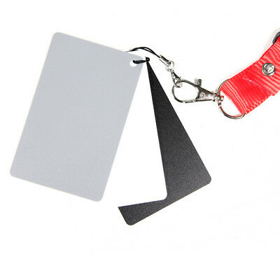 3 in1 Digital 18% Black White Gray Card Photo Exposure Balance Grey Cards + Lany