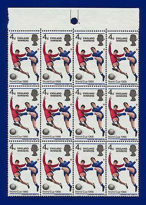1966 SG700 4d World Cup Winners Block of 12 Unmounted Mint agse
