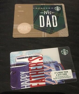 "New HTF STARBUCKS Gift Card 2018 "" Happy Father's Day"" No Value & Free Shipping"