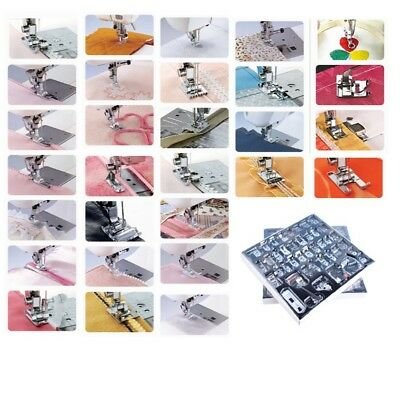 32 Pcs Sewing Machine Presser Foot Feet For Brother Singer Janome Domestic Uj