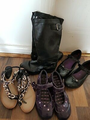 Bundle/Job lot of Girls Summer Shoes, Sandals, boots. Size 1 and 2