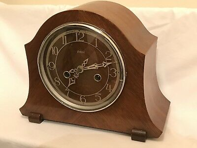 Early Bravingtons Enfield Mantle Clock for repair or spares/non running