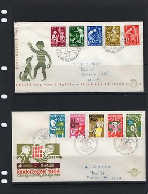 NEDERLAND - 10 First Day Covers - 1958-1968 - F0071