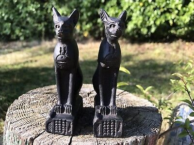 Egyptian Cat figure x 2 (pair). Statue. Figurine. Ornament.