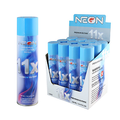 Neon 11X (6 Cans) Gas Refill Butane Universal Fluid Fuel Refined 300Ml