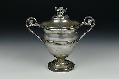 18th Century Italian Sterling Silver Covered Handled Bowl Turin Italy 11 Troy oz