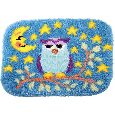 Night Owl Latch Hook Rug Kit - Rug Making - Everything included 52 X 38