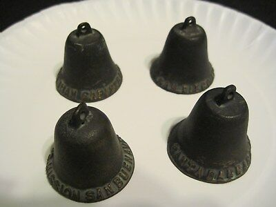 Vintage‼ Antique Four Bronze Mission Bells Good Condition Used