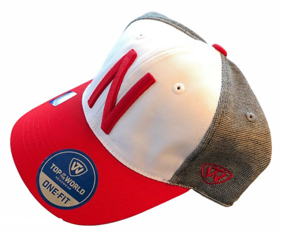 competitive price 63b88 98768 Nebraska Cornhuskers Ncaa (Totw) Stretch One Fit Cap Hat Nwt Gray White Red  Nwt