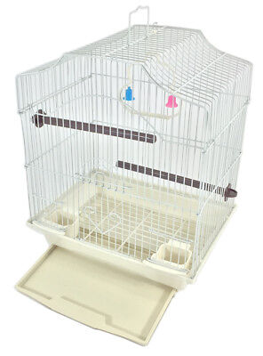 Bird Cage Kit Starter Set for Small Bird - White
