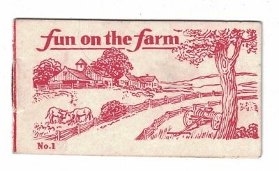 Vintage Cracker Jack prize booklet - Fun on the Farm No.1