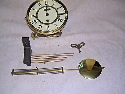 CLOCK  PARTS,MOVEMENt,CHIME, HANDS,PENDULUM ,KEY,HERMLE