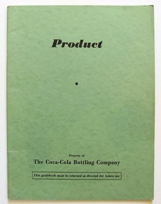 OLD private use 1940 COCA COLA COKE PRODUCT HISTORY ILLUSTRATED BOOK 1886-1940