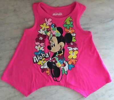 Disney's Minnie Mouse Toddler Girls Tank Top Pink 3T Pre-owned Great Condition