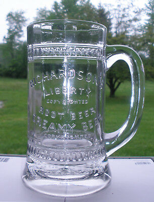 Embossed Root Beer Mug RICHARDSON'S LIBERTY CREAMY ROOT BEER ROCHESTER NY