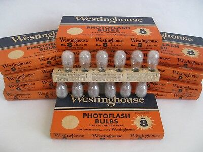 Photography Flash Bulbs - Vintage - Westinghouse and GE - No. 8 and 22
