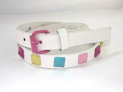 Children's/kids PYRAMID studded Belt. Synthetic Leather. 2 colours + sizes