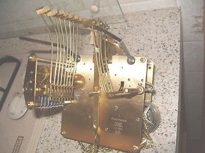 Clock Parts Franz Hermle Triple Chimes Long Case Clock Chain Driven 8 Hammmers