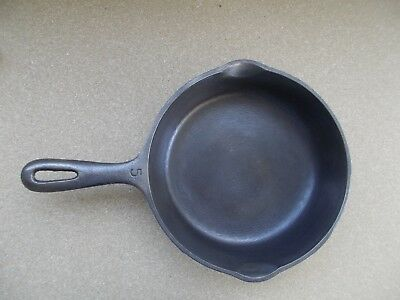 "Vintage Wagner Ware Cast Iron 5 Made In Usa 8"" Skillet Frying Pan"