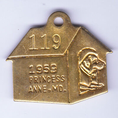 1959 Princess Anne County Maryland Dog License Tag #119