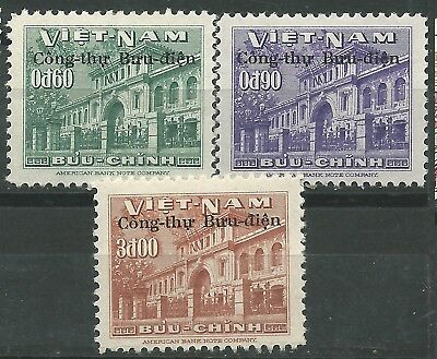 VIET NAM South Scott# 51-53 1956 Building postal