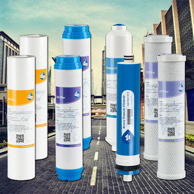 1 Year 5 Stage Reverse Osmosis Drinking Water System RO Purifier FILTERS 100 GPD