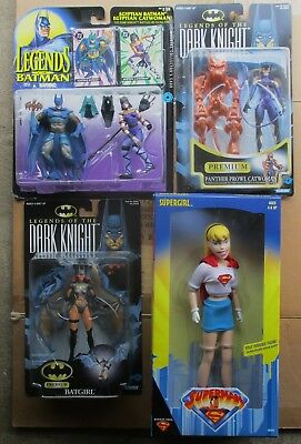 "Kenner LEGENDS OF BATMAN LOT 12"" ANIMATED SUPERGIRL Batgirl Catwoman MIB"