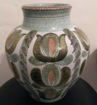 Vintage Glyn Colledge Bourne Denby Vase Hand Painted Studio Pottery