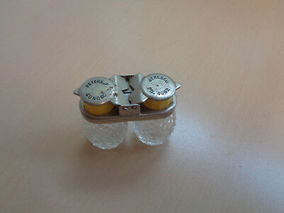 Vintage Peterson Conoco Advertising Glass Salt and Pepper Shakers