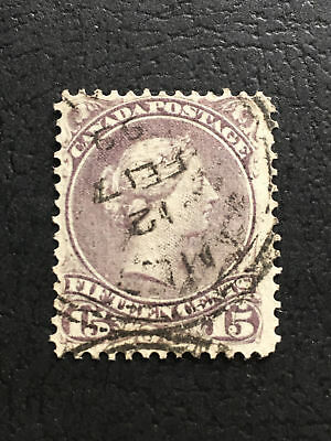 SC#29a - 15c greyish purple Large Queen