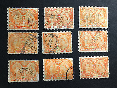 Accumulation of SC#51 - 1c QV Jubilee (x9)