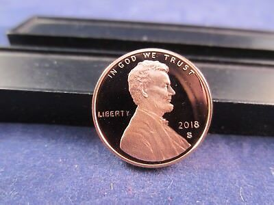 2018 S Lincoln Cent Deep Cameo Mirror Proof  Upper Grade Range Shield IN STOCK