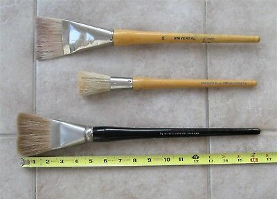 3 Hard to Find Large Vintage Brushes - 2 Grumbachers +1 Universal - Lettering