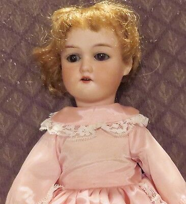 "Antique 14"" German Bisque Mystery Doll Marked C, Perfect Bisque"