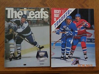 Toronto Maple Leafs game programs -1982 Quebec Nordiques 1991 Montreal Canadiens
