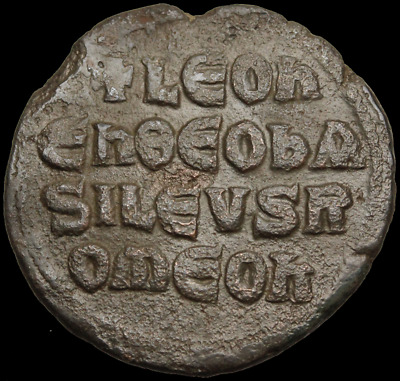 """Leo VI """"The Wise"""" AE Follis, Legend in lines, 26mm, 7.74g"""