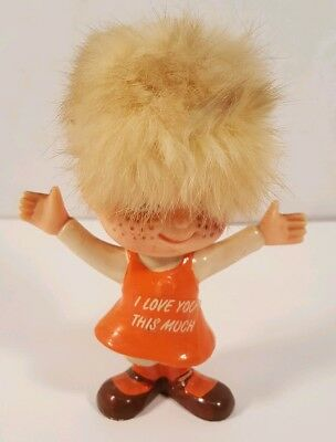 Vintage 1970 BERRIES Hong Kong I LOVE YOU THIS MUCH figure 4.5""