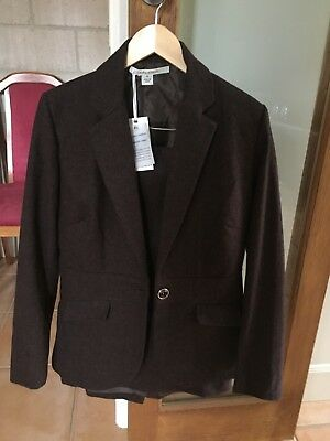 NEW Laura Ashley Wool Rust Skirt Suit Size 12 RRP $558