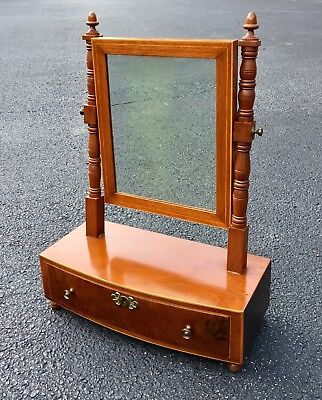 Rare antique Shaving mirror with Provenance, signed and dated 18th C GEORGE III