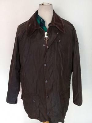BARBOUR Classic Beaufort WAXED Jacket Olive Size 42