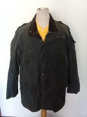 BARBOUR Cowen Commando WAXED Jacket Green Size 42