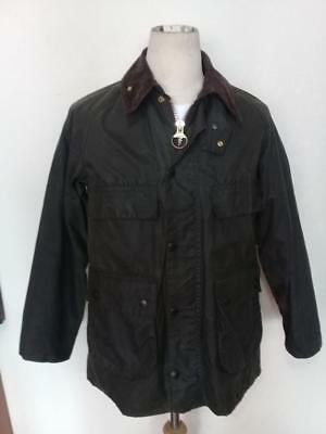Mens BARBOUR Bedale WAXED Jacket Green Size 34