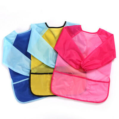 BL_ Fashion Waterproof Long Sleeve Baby Toddler Painting Feeding Smock Bib Apron