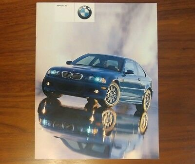 Bmw M3 Brochure E46 2001 Coupe Collectible Advertising Motorsport M Power