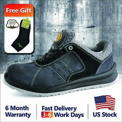 Safetoe Safety Shoes Mens Work Sports Light Weight Composite Toe Hiking L-7331