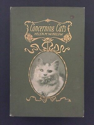 1900 Concerning Cats- Exotic Breeds- Bookseller Label of Geo. Brumder, Milwaukee