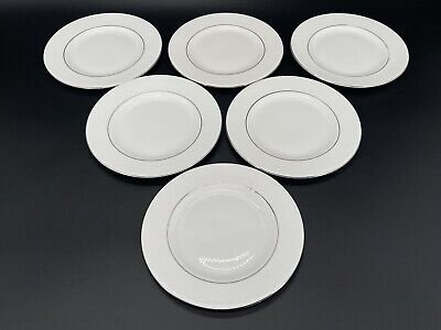 "Royal Doulton Lace Point 6.5"" Dessert Plates Set Of 6 Bone China England"