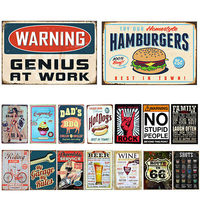 Retro Metal Tin Sign Poster Plaque Bar Pub Club Wall Home Decor I0298