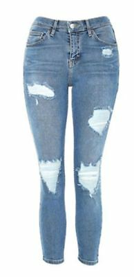 Topshop JAMIE jeans W26 L28 8 10 new w tags super ripped skinny jeans petite